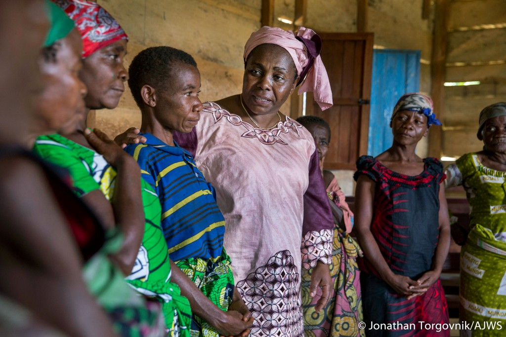 BENI, DEMOCRATIC REPUBLIC OF CONGO - OCTOBER 12, 2015: Julienne Lusange visiting beneficiaries of her organization SOFEPADI October 12, 2015 in Beni, Dmecratic Republic of Congo. (Photo by Jonathan Torgovnik)