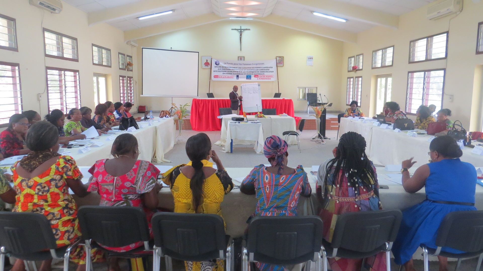 Workshop for capacity building of women candidates to provincial election and potential candidates to legislation election on communication techniques during the election period and election issues in Kinshasa, DRC
