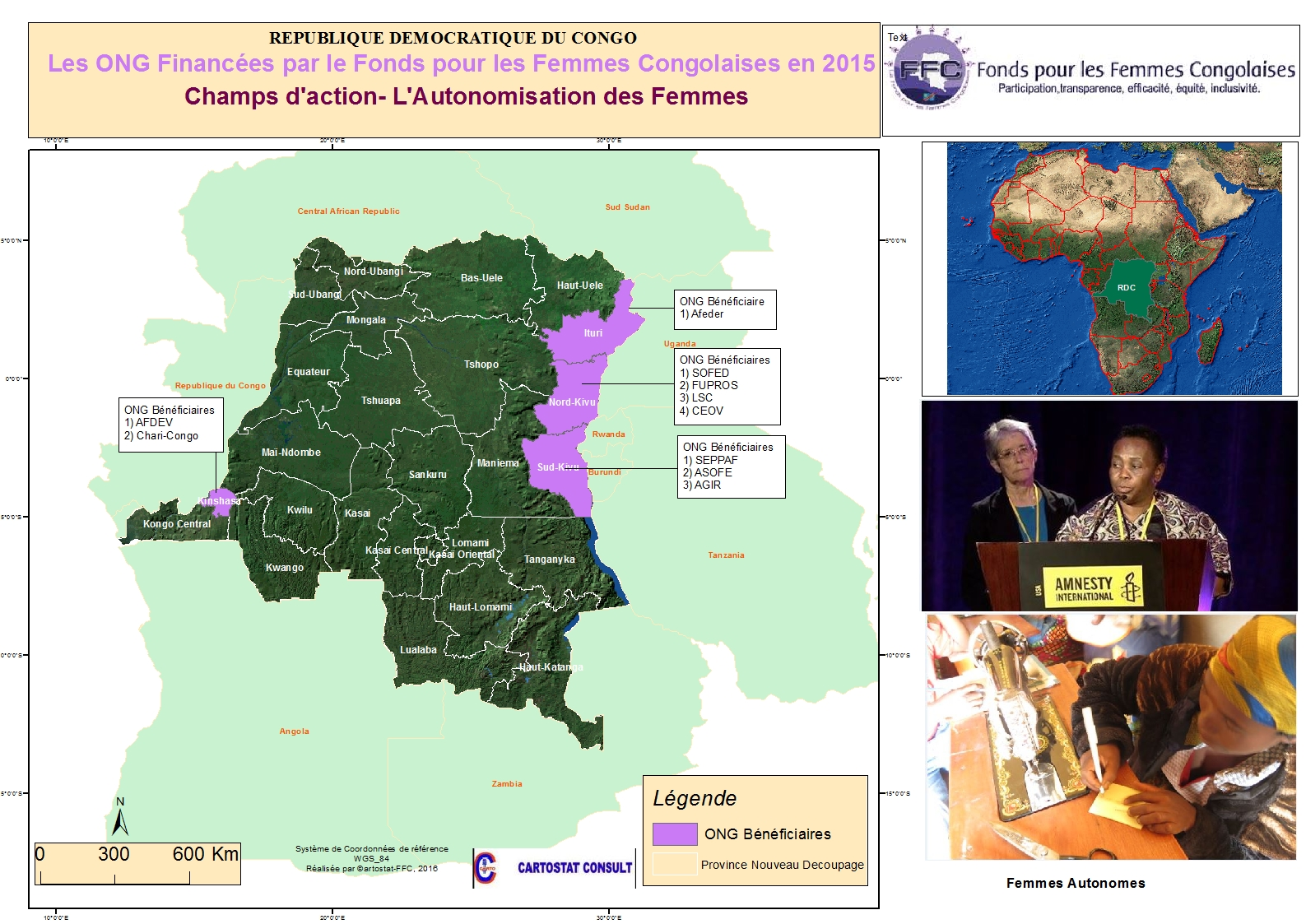 2015 maps of  all empowerment activities of FFC