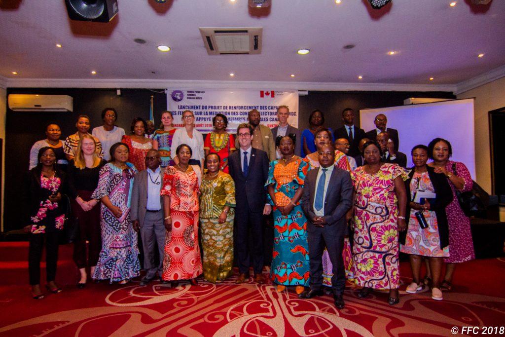LANCEMENT DU PROJET DE RENFORCEMENT DES CAPACITES DES FEMMES SUR LA MEDIATION DES CONFLICTS ELECTORAUX EN RDC.PROJET APPUYE PAR LES AFFAIRES MONDIALES CANADA